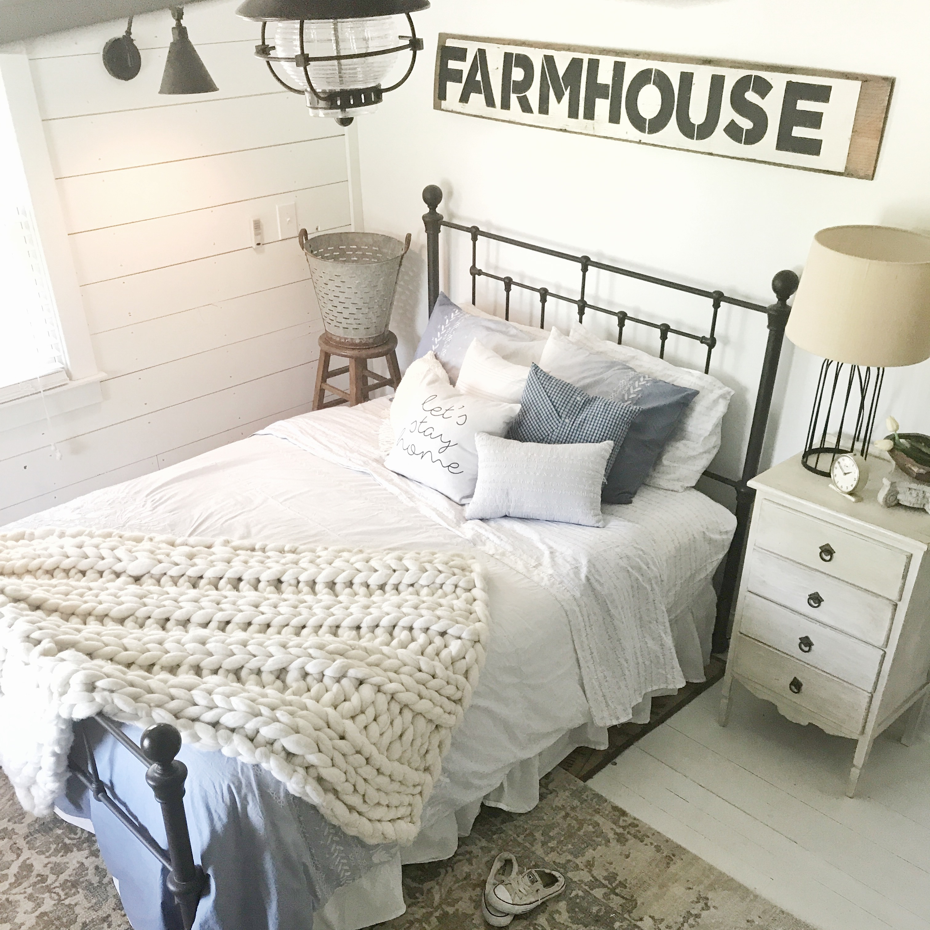Rooms: Tour Our Farmhouse-inspired Guest Bedroom.