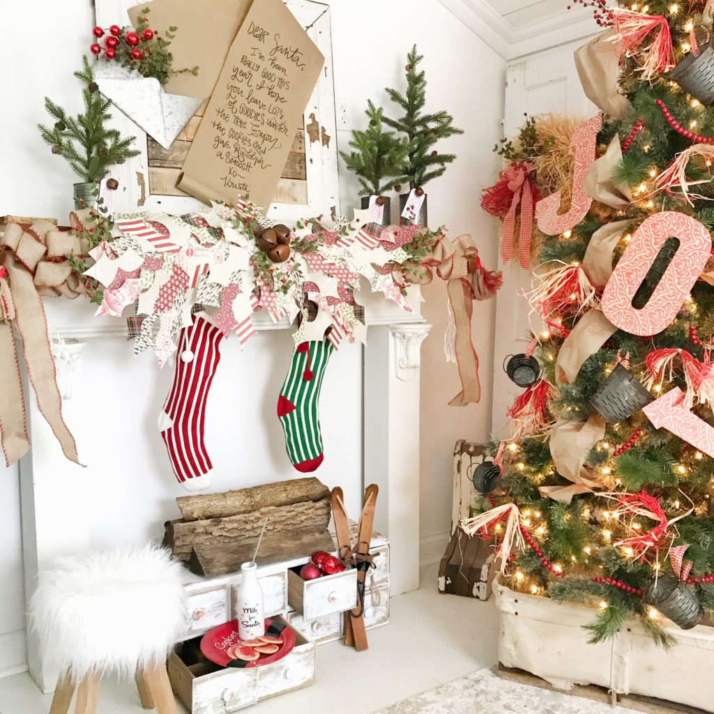 to begin creating a farmhouse christmas look for the holidays i knew i wanted to make a statement by adding handcrafted items to create the merriest of