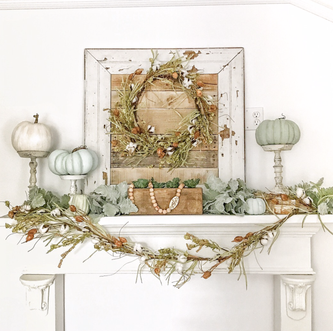 Fall Mantle Decorating Ideas The Pickled Rose