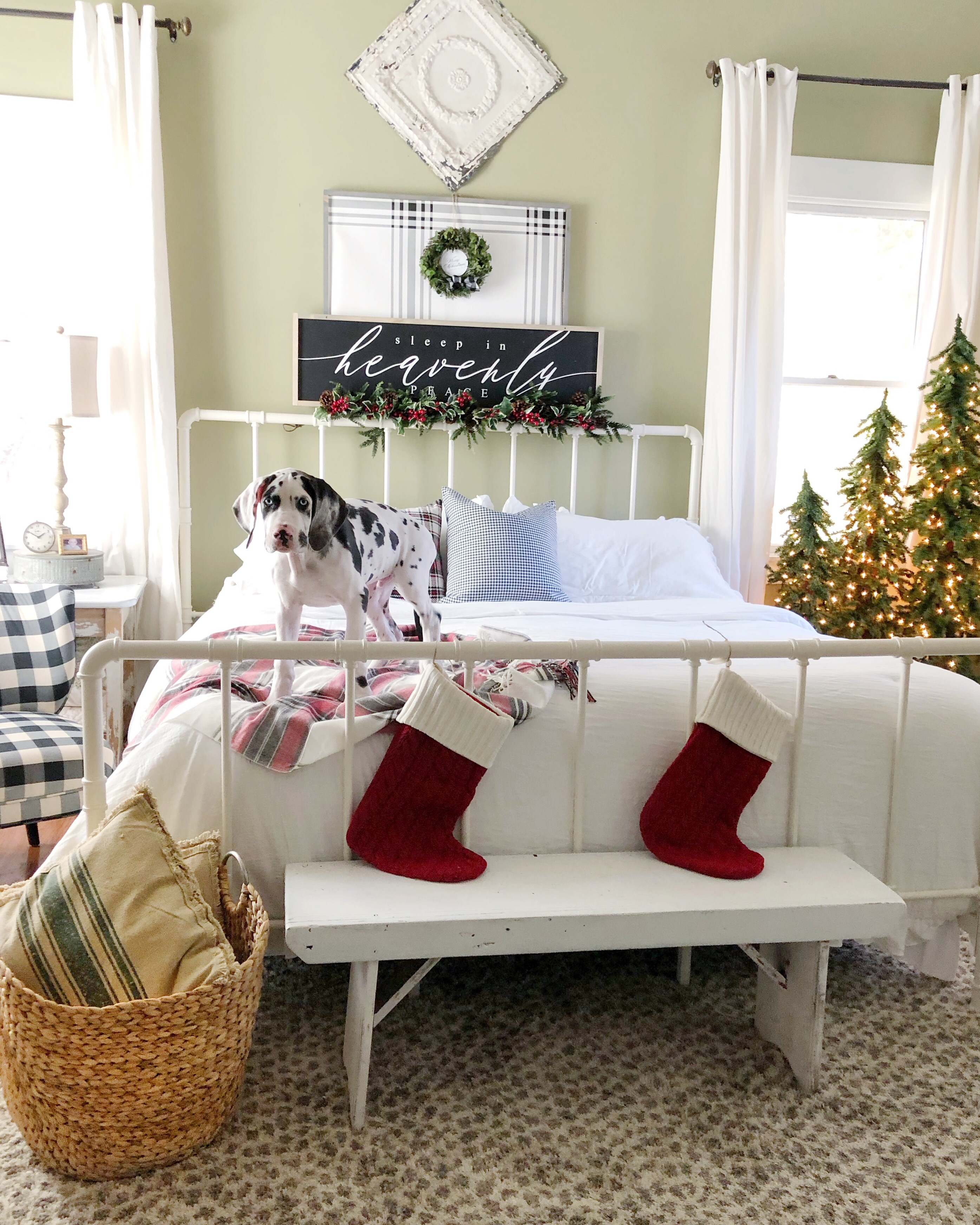 Christmas Bedroom With Overstock